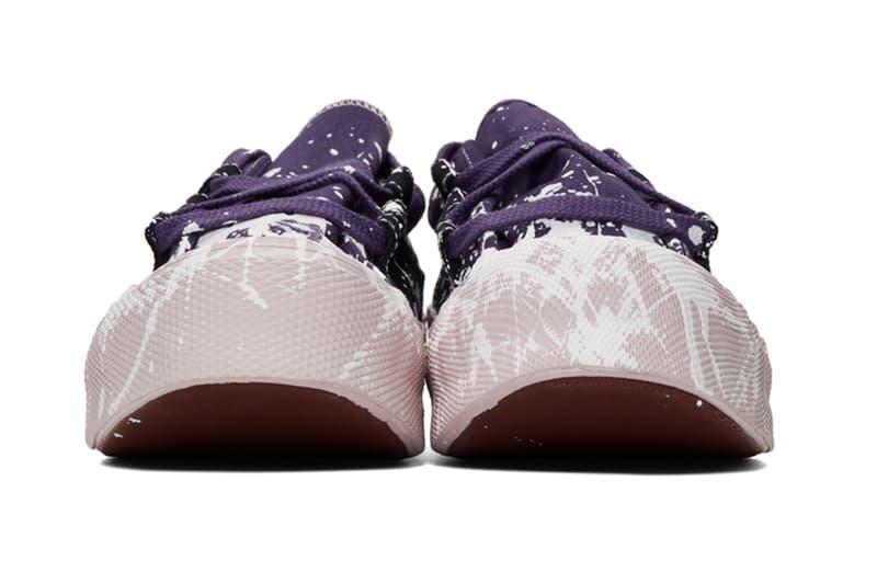Needles Drop Jackson Pollock-Esque Ghillie Sneakers Paint Splatter Footwear Japanese Streetwear Fashion Luxury Menswear Americana Vintage Sneakers