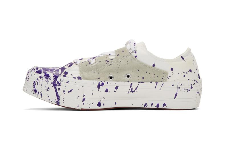 Needles Drop Jackson Pollock-Esque Ghillie Sneakers Paint Splatter Footwear Japanese Streetwear Fashion Luxury Menswear Americana Vintage Sneakers