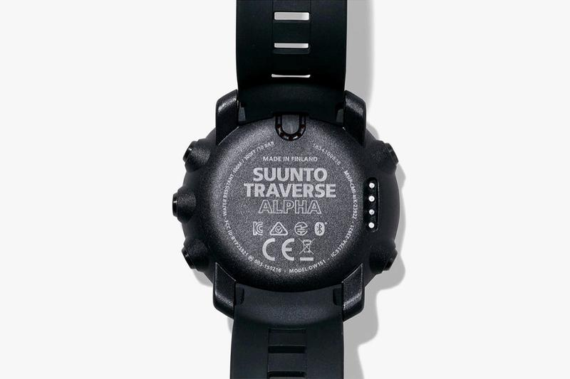 NEIGHBORHOOD x Suunto Japan Finland Tokyo Squad 3204 Watches Military Inspired Design Timepiece Black Digital Screen Traverse Alpha altitude measurements weather resistant