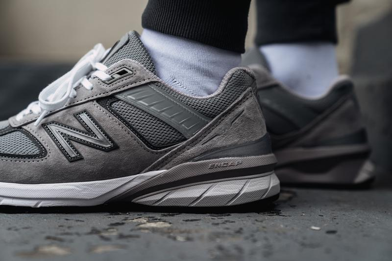 new balance 990 v5 made in usa grey with castlerock