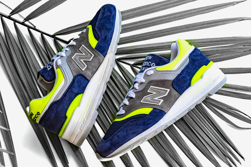 New Balance 997 Blue Yellow Colorway Release sneakers vintage made in the usa shoes retro