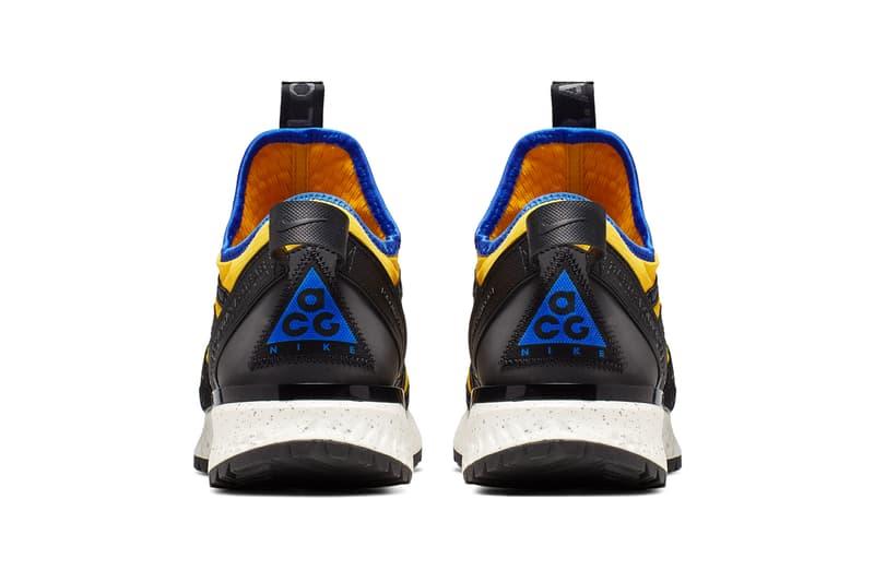 nike acg react terra gobe k2 ldv yellow the abyss blue sneaker release