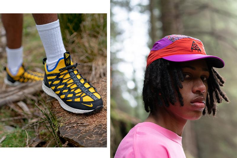 Nike ACG Spring/Summer 2019 Collection Closer Look Size? Editorial Lookbook Shoes Trainers Kicks Sneakers Footwear Jackets Jumpers Bottoms Shorts Hoodies Caps Beanies