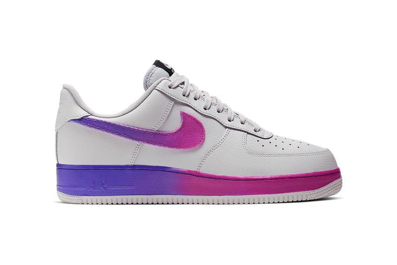 new concept abd5e 3d169 Nike Air Force 1  07 LV8 Vast Grey Hyper Grape BLACK ORANGE PEEL OPTI YELLOW