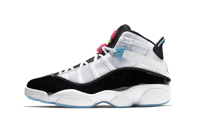 newest bd410 82412 nike air jordan 6 rings six hyper pink blue white black fury sneakers shoes  kicks basketball