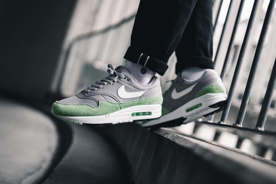 air max 1 green grey