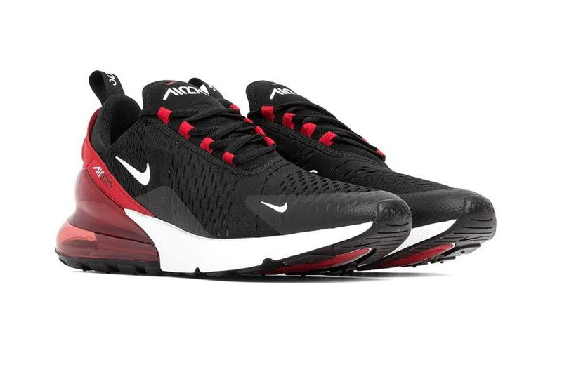 Air Max 270 Black White University Red Hypebeast Drops