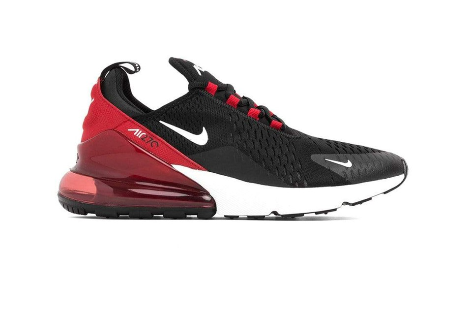 Nike Drop Air Max 270 Black White University Red Hypebeast