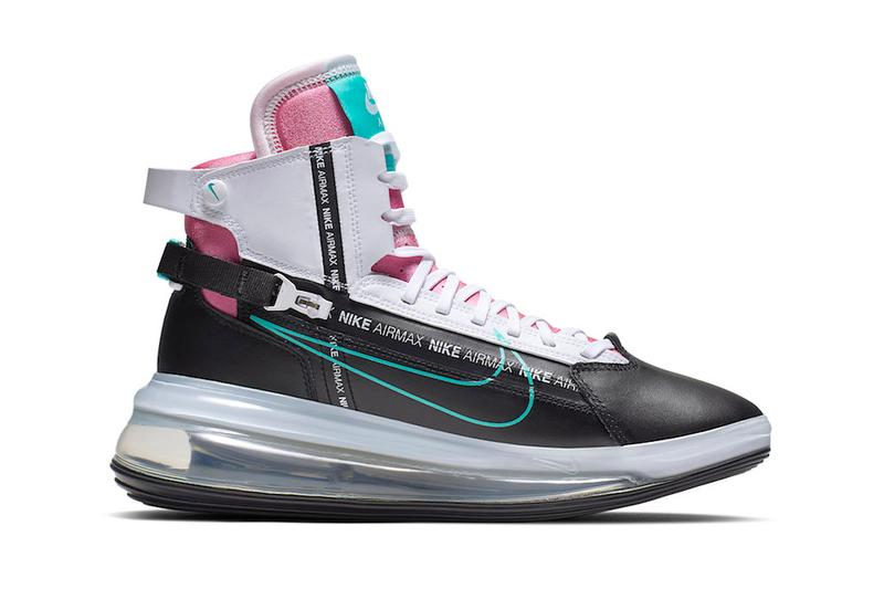 Nike Air Max 720 Saturn South Beach AO2110-002 LeBron James Inspired Spring Summer 2019 SS19 Footwear Drop Release Date Information Closer Look Miami Big Bubble Futuristic Pink Teal White Black