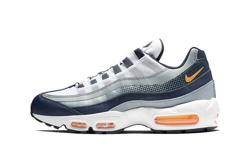 "Nike Air Max 95 ""Laser Orange"" Release grey midnight navy air unit swoosh"