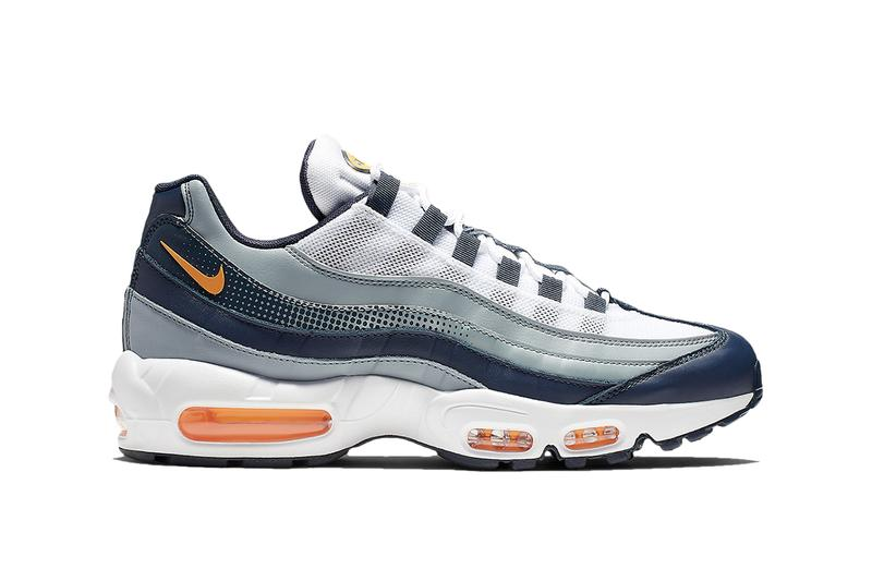 "Nike Air Max 95 ""Laser Orange"" Release grey midnight navy air unit swoosh"