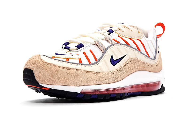 nike air max 98 sail court purple light cream desert ore khaki orange colorway sneakers release  red tailwind iv 4 640744-108