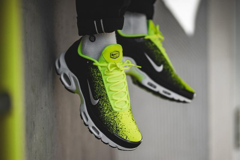 wholesale dealer c02a6 9dde6 nike air max plus volt metallic silver black white spray painted sneaker  release