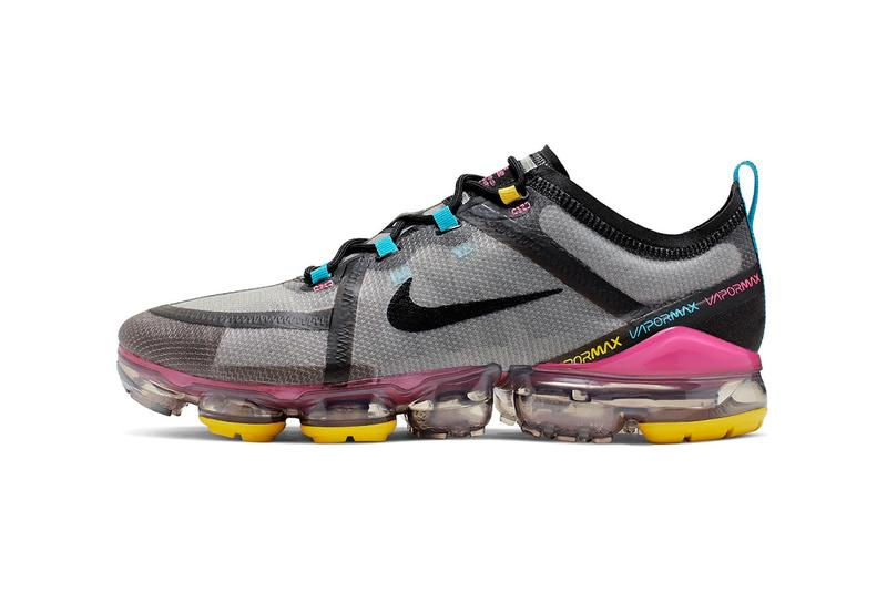 df02a02bbb5 Nike VaporMax 2019 CI9891-200 Grey Black Pink Blue Yellow Clear Air Bubble  Unit Runner
