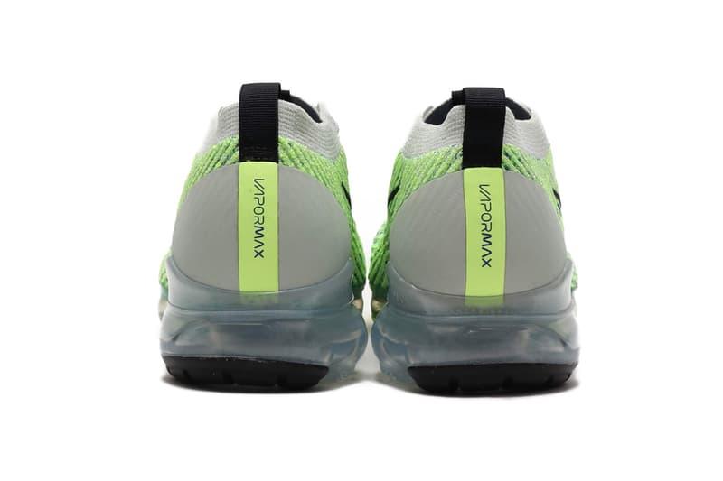 Nike Air VaporMax Flyknit 3.0 Silver Black Volt Release Info AJ6900-005