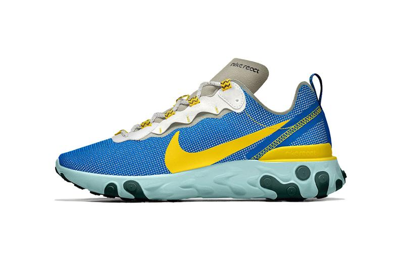 Nike By You React Element 55 Customizable Models sneaker may 2 2019 announce release date buy design ID