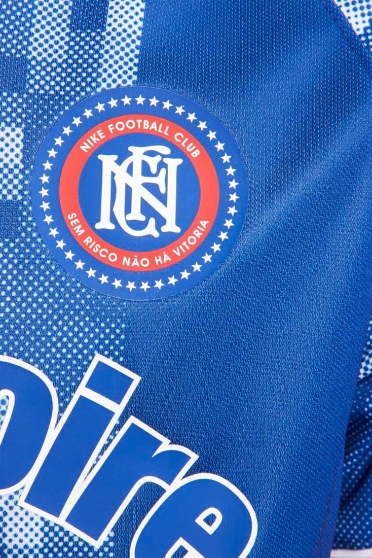 "Nike F.C. Debuts ""La Victoire"" Football Kits soccer peach blue red white swoosh lookbooks"