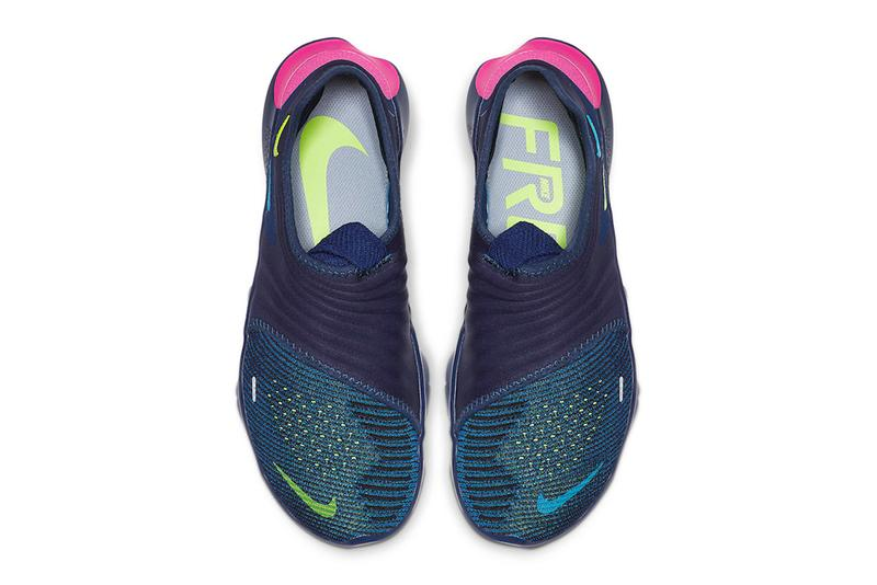 Nike Free RN Flyknit 3.0 Midnight Navy Volt Style Code AQ5707-400