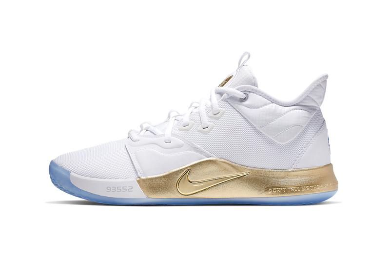 pretty nice 25cb4 ef79d Nike PG 3 NASA Apollo Missions Release Info Paul George CI2666-100 white  gold