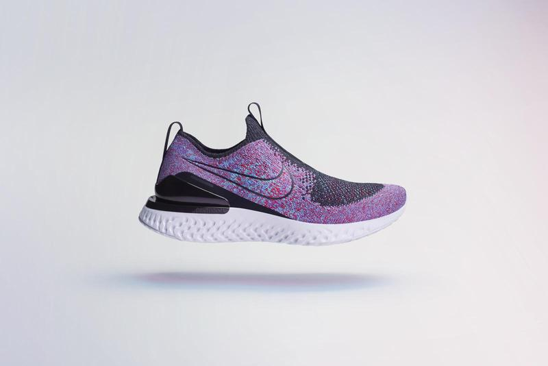 uk availability 211b9 65eac Nike Phantom React Flyknit First Look Blue Purple Laceless Release Date Info