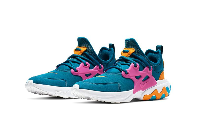 Nike Presto Reacts Debut Collection tpu cage neoprene sock liner red pink orange teal swoosh