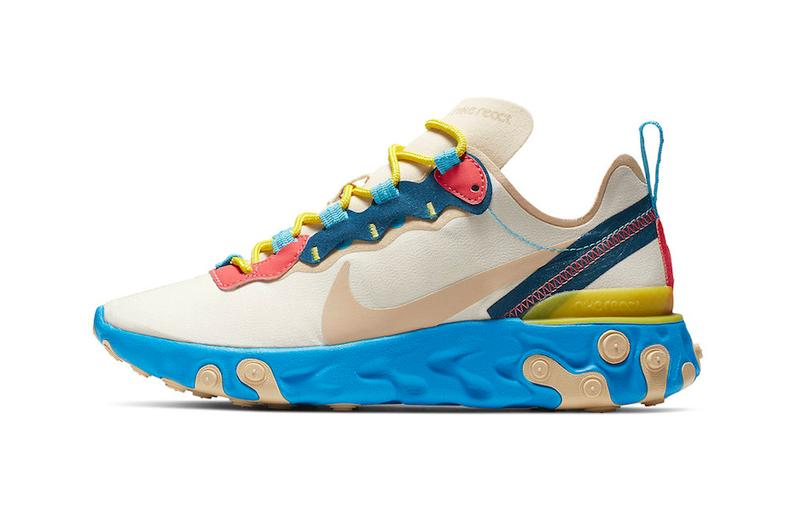 Nike React Element 55 Electric Blue Release Info BQ2728-201 sneakers kicks shoes footwear releases drops