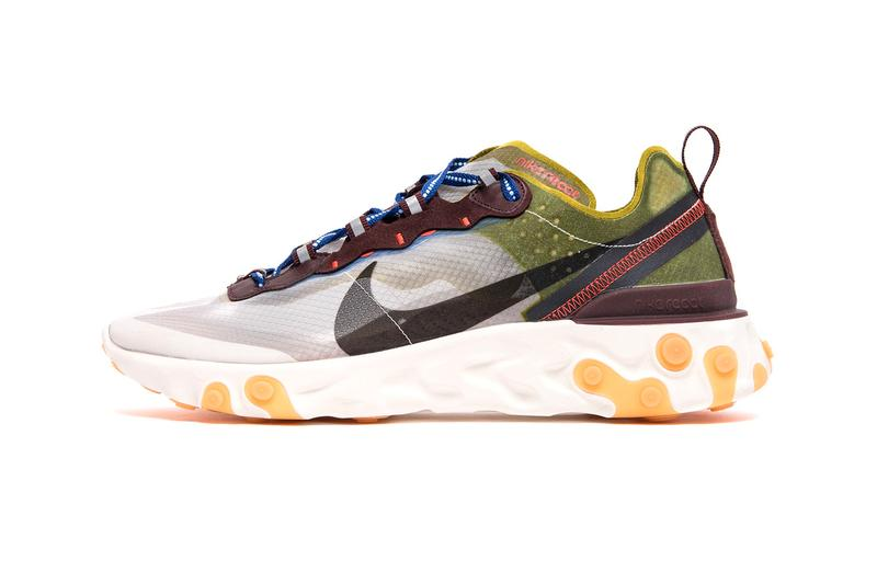 Nike React Element 87 Dusty Peach Moss Release Info AQ1090-200 AQ1090-300