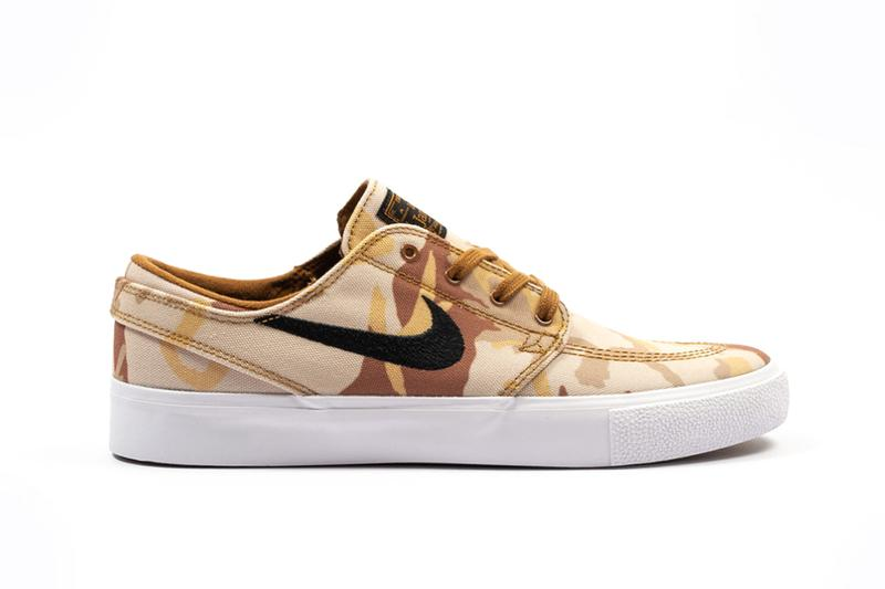 Nike SB Zoom Janoski Canvas Premium RM Release foot district date drop product info camouflage Desert Camo AQ7878-200 Parachute BeigeBlack