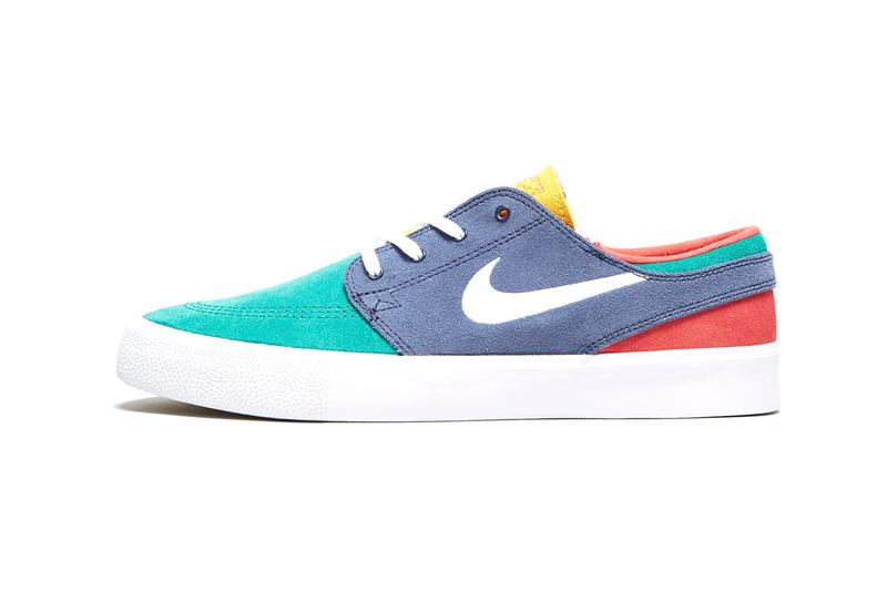 uk availability ee3ff c8939 nike sb zoom stefan janoski canvas deconstructed sneakers multi colorway  release