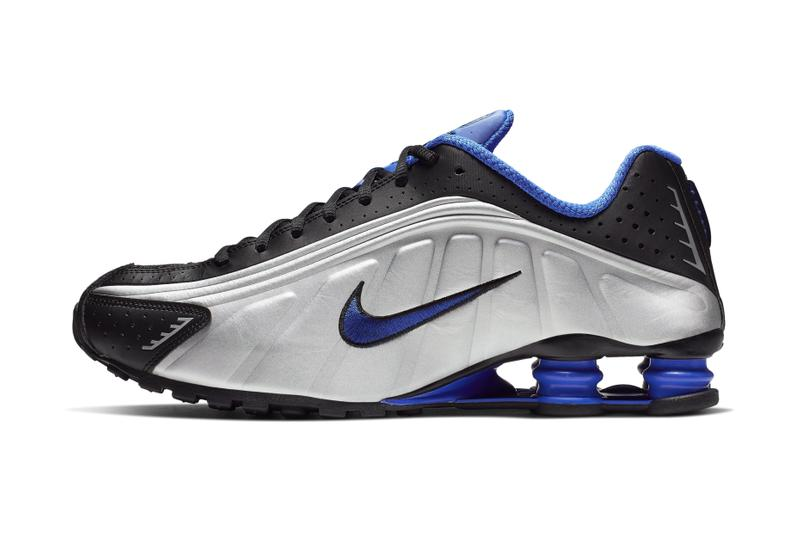 best website fb80e 22a95 Nike Shox R4 Racer Blue   Metallic Silver Release