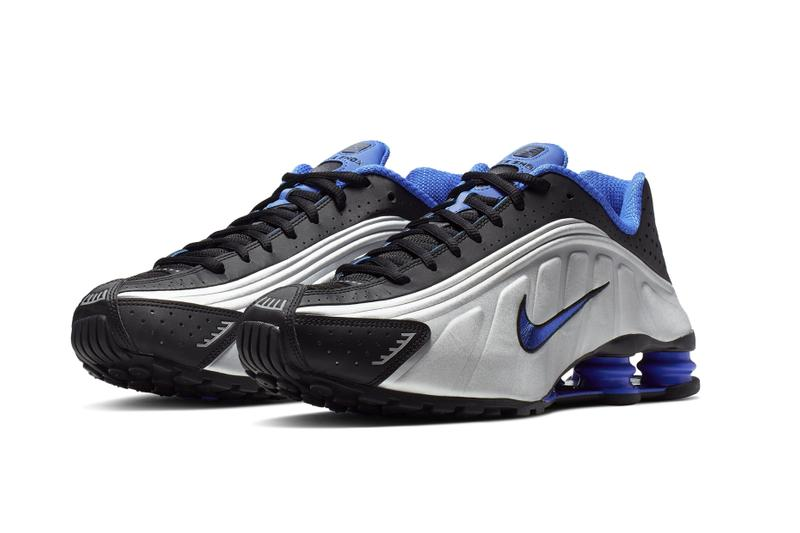 Nike Shox R4 Racer Blue & Metallic Silver Release