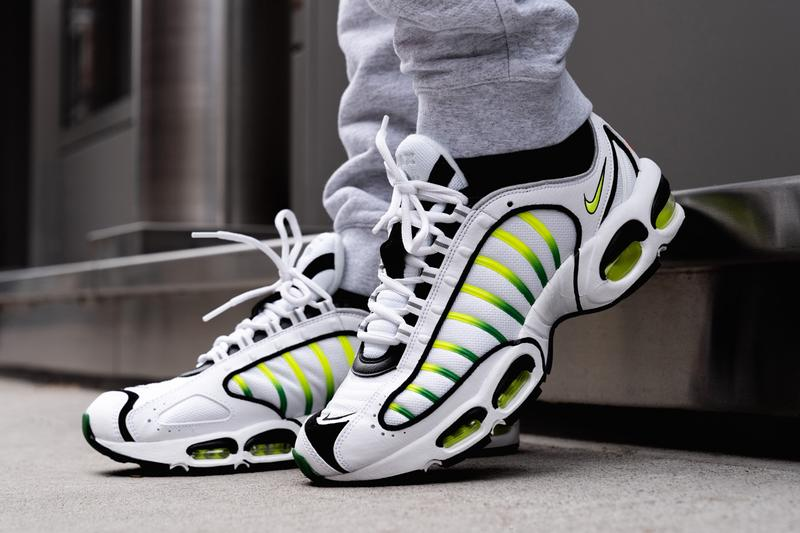 wholesale dealer c31f1 721e8 nike air max tailwind 4 volt green white colorway sneaker release