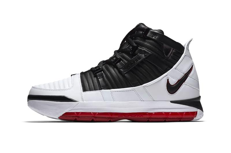 abccf0e477e9 Nike Zoom LeBron 3 Home Release Info AO2434-101 Black White Red. 1 of 5