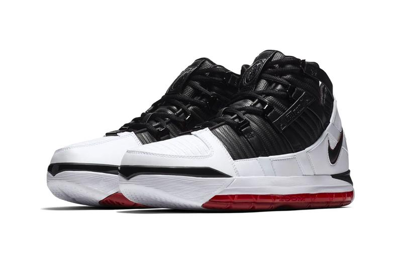 e20a9c32f347 Nike Zoom LeBron 3 Home Release Info AO2434-101 Black White Red. 2 of 5