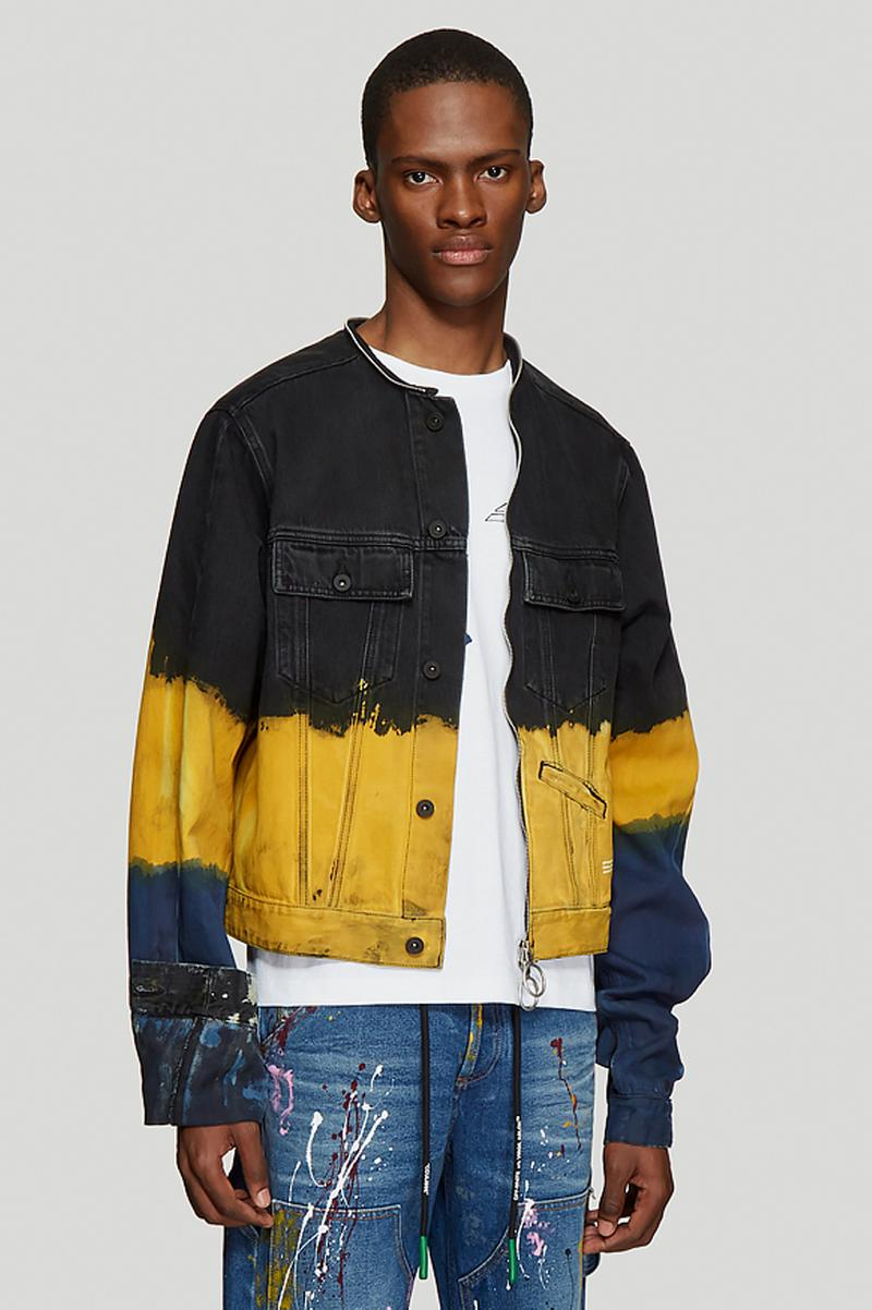 off white tie dye denim jacket yellow release spring 2019