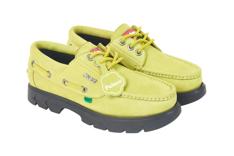 Palace 2019 Summer Footwear kickers collaboration loafer gold bit furry horsehair slip on boat shoe lug sole colorways