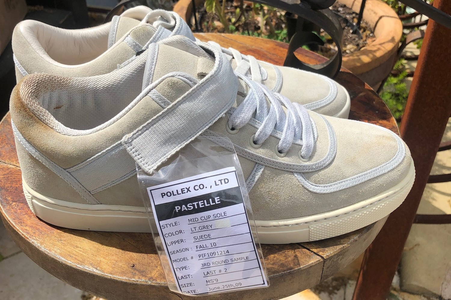 1-Of-1 Pastelle Sneaker Sample for $5,000 USD kanye west clothing mid top canvas