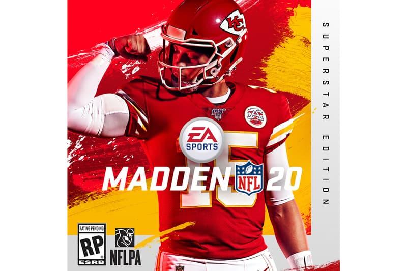 2018 MVP Patrick Mahomes Covers 'Madden NLF 20' football gaming ea sports Kansas City Chiefs