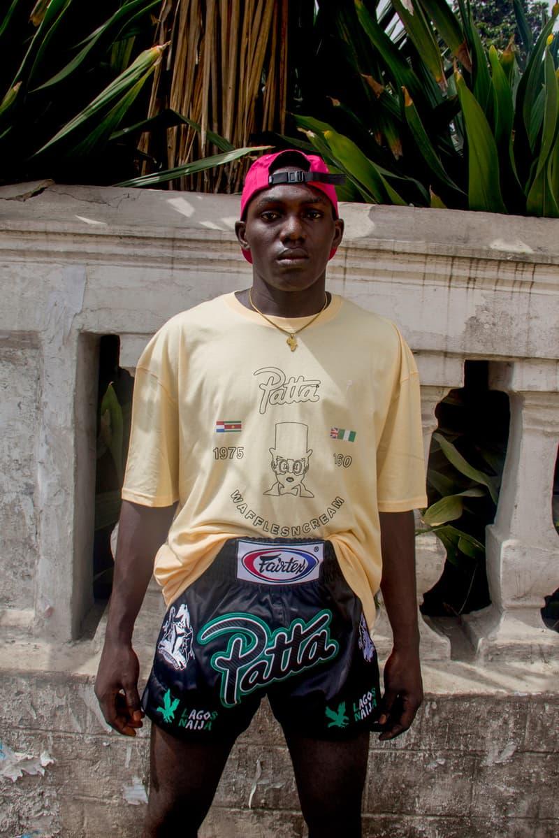 patta x wafflesncream waffls n cream common cause t shirt collaboration tee release homecoming popup lagos nigeria  africa skateboarding skateboard
