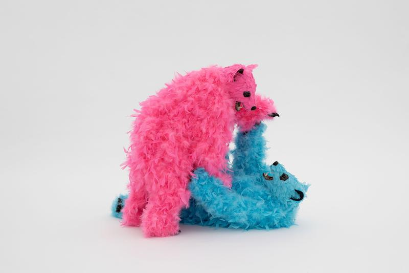 Paola Pivi's Feather-Colored Bears Invade Perrotin New York