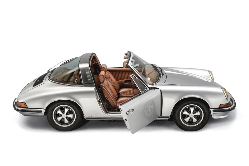 Porsche 911 Targa 1973 Berluti The Art of Craftsmanship Fully Custom Reworked Classic Car Automotive Design Vintage Sotheby's Auction House 200000 USD Bag Driving Shoes