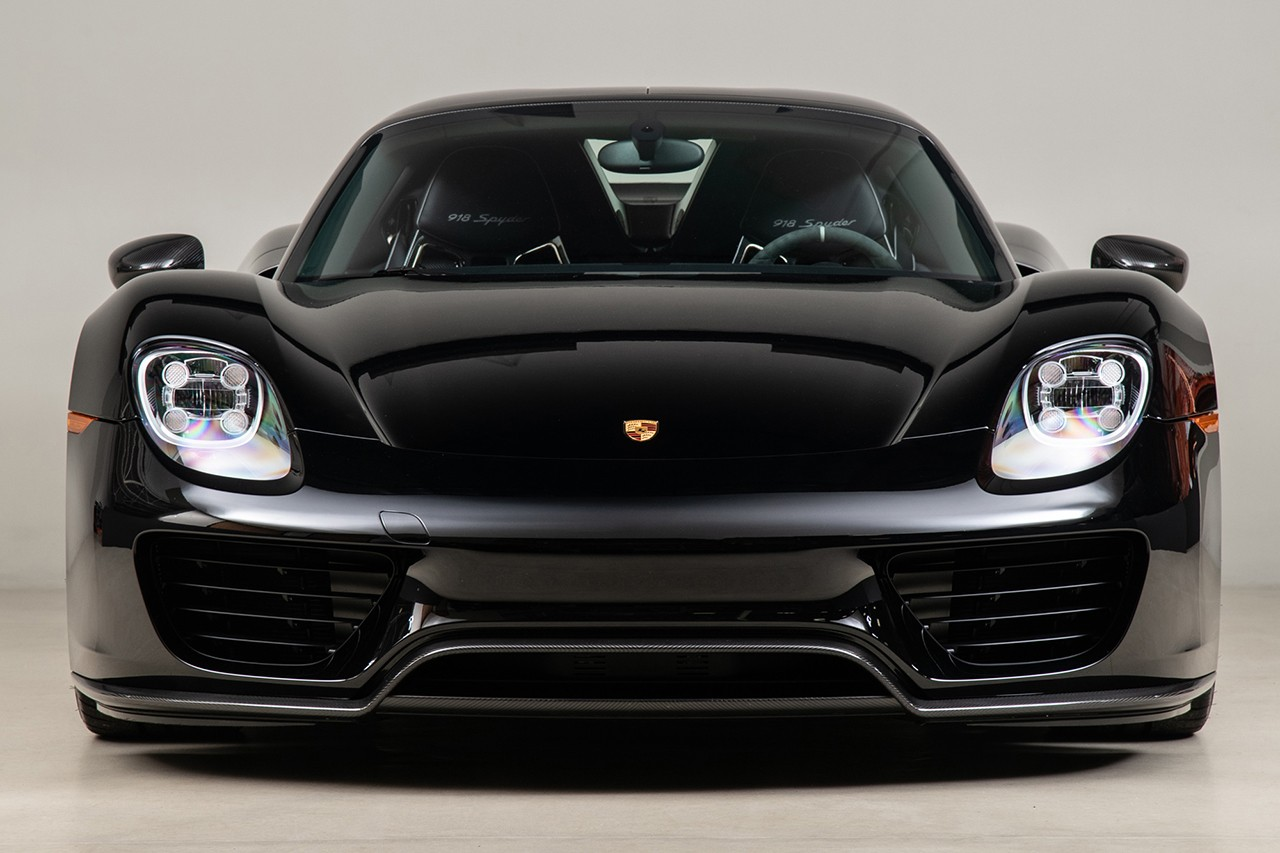 Porsche 918 Spyder Weissach In Black Up For Auction
