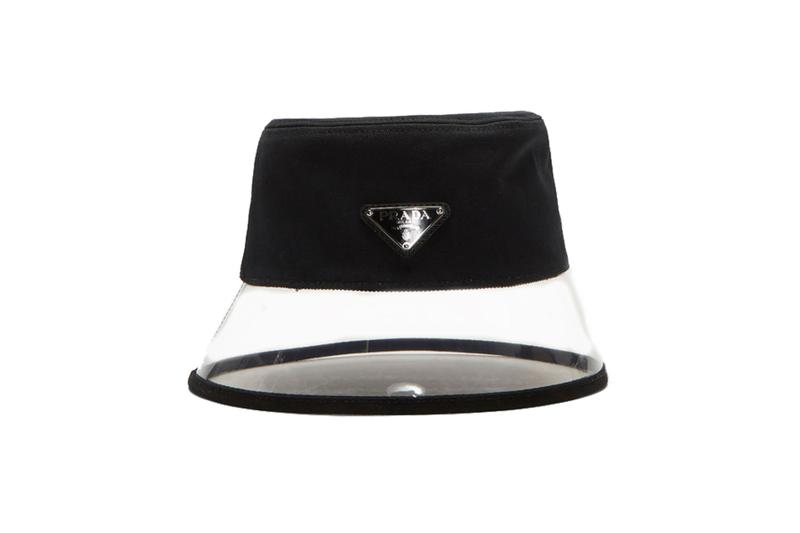 14398be0f195e Prada Black Popeline And Plex Bucket Hat transparent where to buy 2019  price release