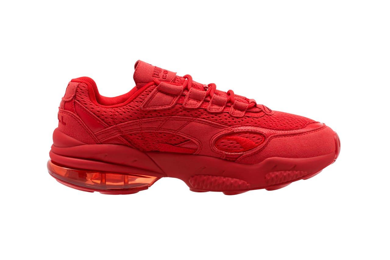 puma red ribbon shoes
