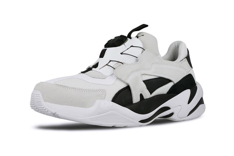 Puma Thunder Disc Spectra Black White Technology Sole Swap Spring Summer 2019 Footwear Blaze New Concept Footwear News Sneaker Drops April Monochromatic Drop Release Date Information