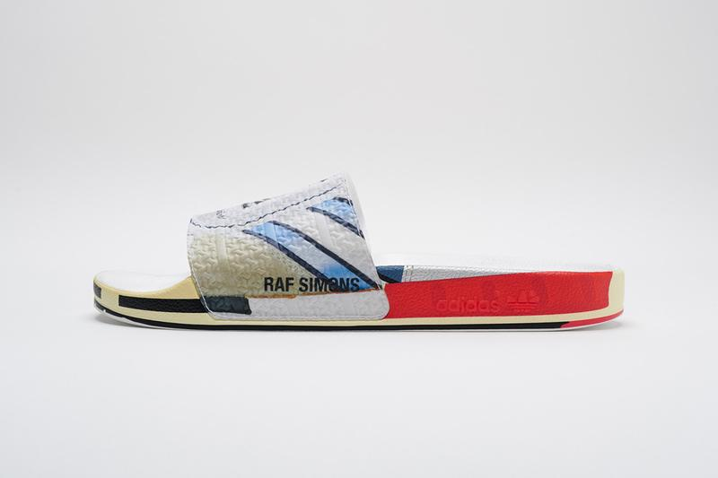 Raf Simons adidas Stan Smith Spring/Summer 2019 SS19 adilette sneaker trainer slider release details date first look closer look micropacer la torsion conquest super peachtree belgian designer footwear collaboration