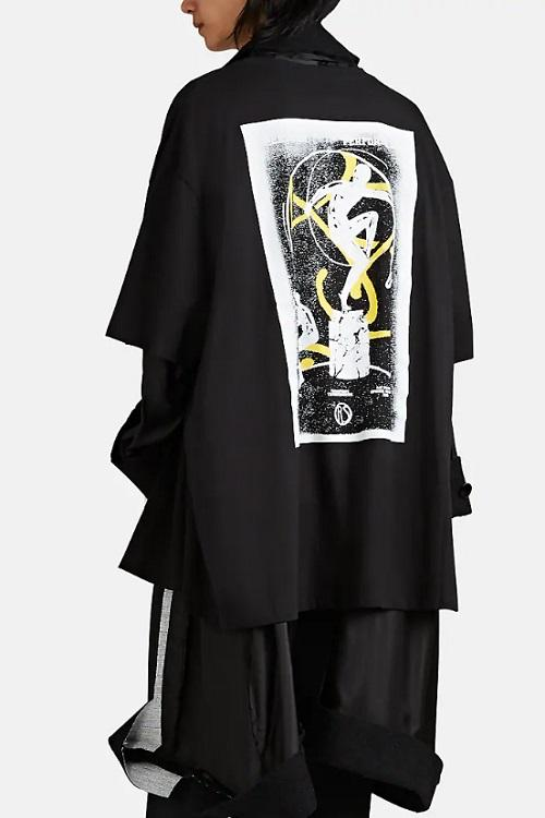 Raf Simons Black Deconstructed Mixed Media Coat outerwear 2019 april barneys where to buy price cost purchase spring summer ss19