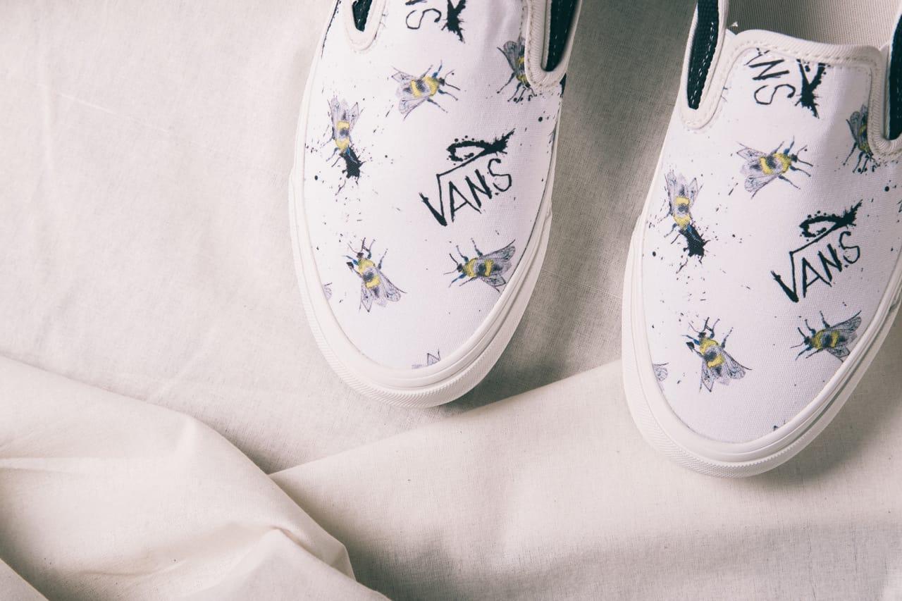 painted white vans