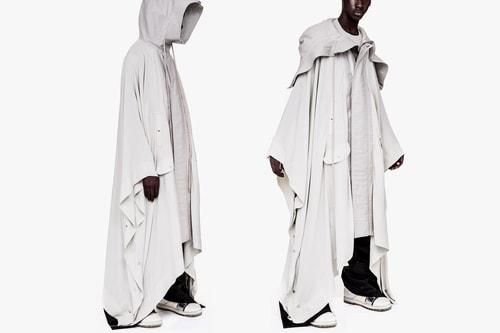 "Rick Owens Launches Dystopian SS19 ""ParkaPoncho"" Coat"