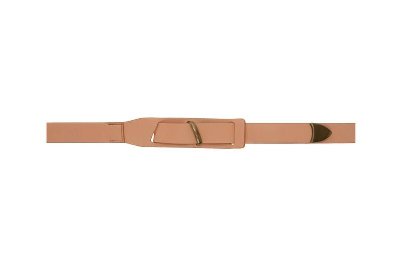 Robert Geller Beige & Tan Long Belts Release Info SSENSE exclusive accessories made in japan nappa leather gold-tone hardware 191215M131002 191215M131001 drop date pricing buy now
